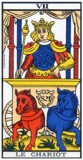 Tarot de Marseille - Arcane 7 - Le Chariot