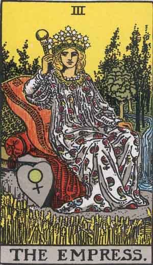 Rider-Waite tarot - The Empress