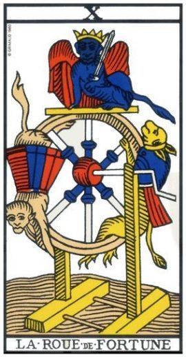 Tarot de Marseille - Arcane 10 - La Roue de fortune
