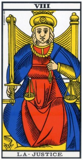 Tarot de Marseille - Arcane 8 - La Justice