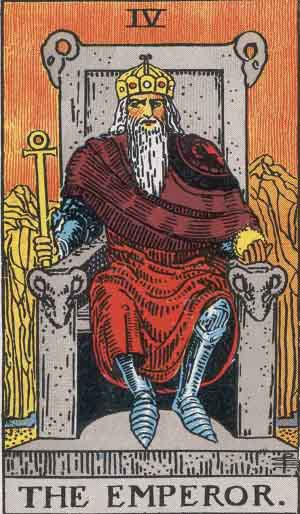 Rider-Waite tarot - The Emperor