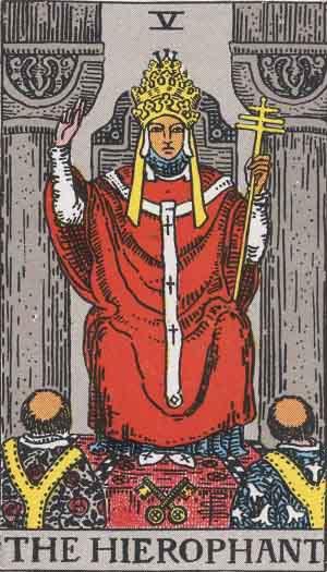 Rider-Waite tarot - The High Priest
