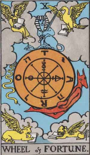 Rider-Waite - Wheel of Fortune