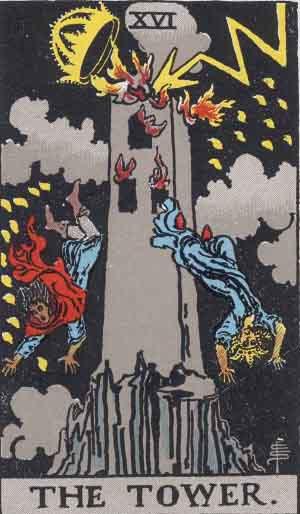 Rider-Waite - The Tower