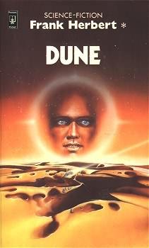 Dune - couverture de l'édition de poche française dans les années 1980
